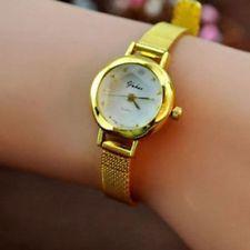 Fashion Women's Lady Bracelet Stainless Steel Crystal Dial Analog Quartz Watch