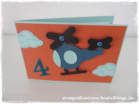 Stampin Up_Hubschrauber_Helicopter_Punch Art_Kinder_Kids_Einladung_Geburtstag_Birthday_Stempelfantasie_2