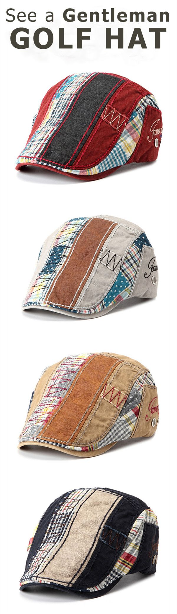 US$8.88+Free shipping. Mens Fashion, Golf Hat, Cowboy hat, Crochet hats, Baseball hat. Love this outdoor and sports style of hat. Material: Cotton+Polyester. Color: Wine Red, Gray, Dark Blue, Beige, Black. Features: Buckle, Adjustable.