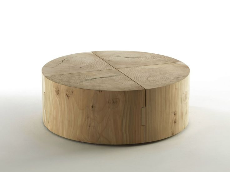 ECO BLOCK | Square Coffee Table. Solid Wood ...