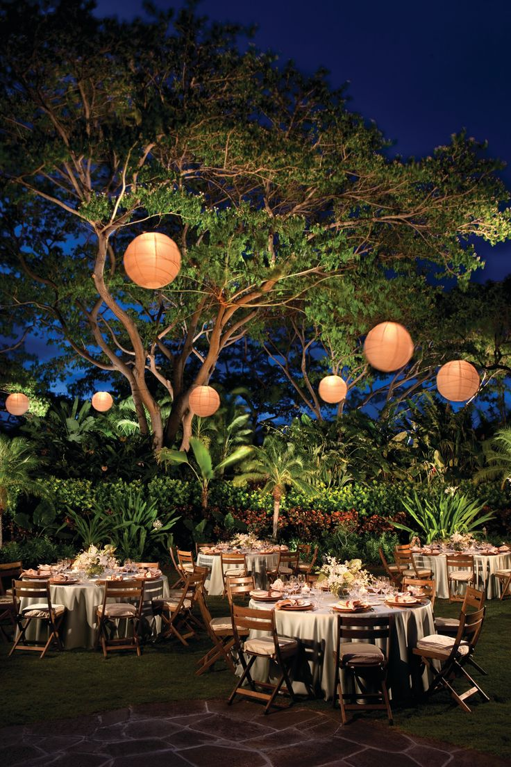 Garden Wedding...mainly in love with the lanterns. I'm loving the idea of an outdoor evening wedding.