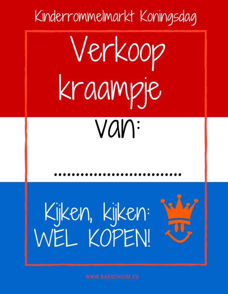 Kinderrommelmarkt Koningsdag I Poster verkoop kraampje van .... I Creatief Lifestyleblog Badschuim