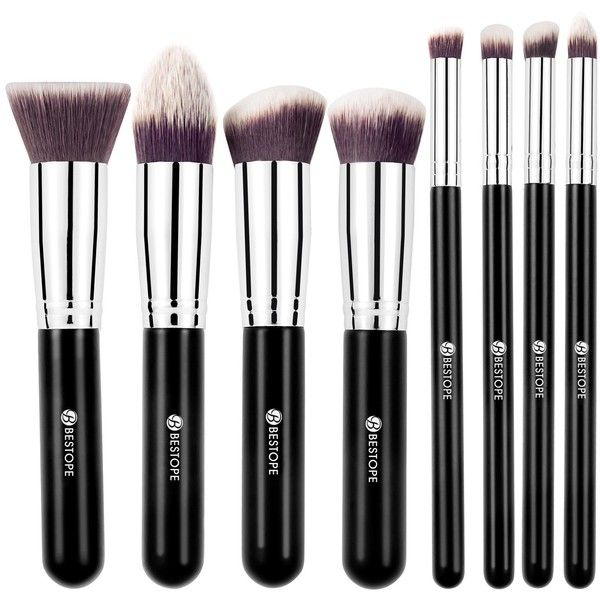 [Update Version] BESTOPE Premium Makeup Brushes Set Cosmetics... ($11) ❤ liked on Polyvore featuring beauty products, makeup, makeup tools and makeup brushes