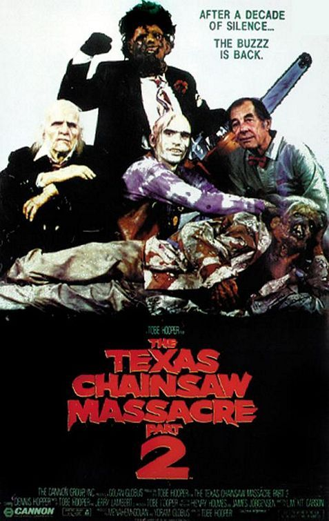 The Texas Chainsaw Massacre 2 poster. A bit of a riff of The Breakfast Club poster, only way better.