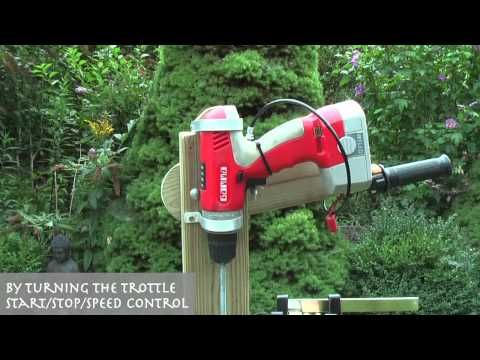 Wooden Outboard Motor Powered by a Cordless Drill | Make: