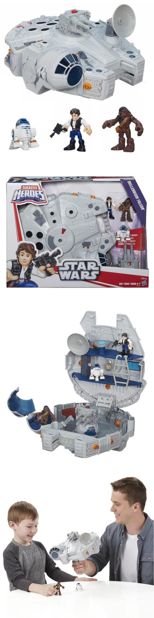 Playskool 2576: Playskool Star Wars Galactic Heroes Millennium Falcon And Figures Cannon Toy Chop -> BUY IT NOW ONLY: $53.14 on eBay!