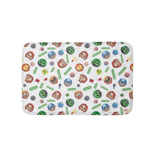 Avengers Emoji Characters Text Pattern Bathroom Mat