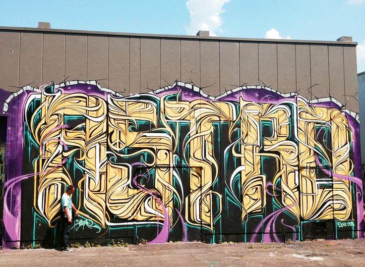 Entre géométrie et calligraphie, je vous propose de découvrir les superbes créations street art de l'artiste françaisASTRO. Ayant réalisé ses premiers