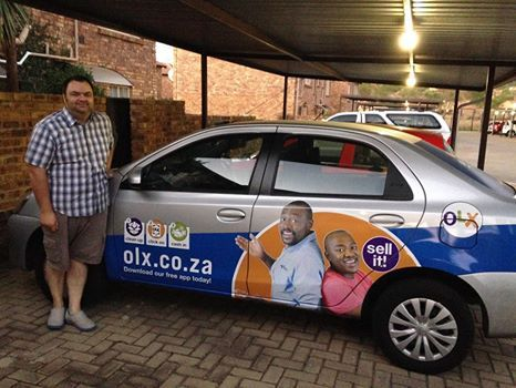 Darren awesome branding from brandyourcar com and olx south africa olx