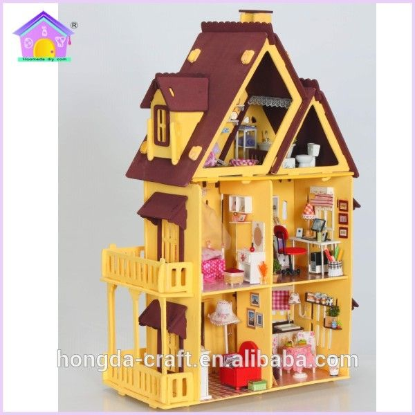 Hot sale diy wooden toys <b>doll house miniature</b> My Little House, View ...