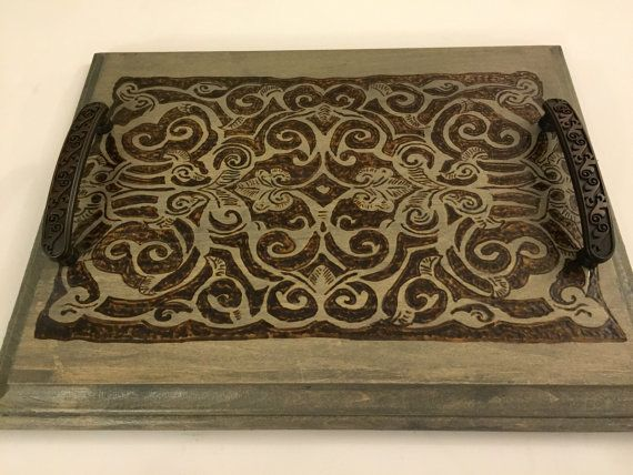 Decorative Trays 27 Best Rustic Royalty  Decorative Wood Traysthe Arabesque