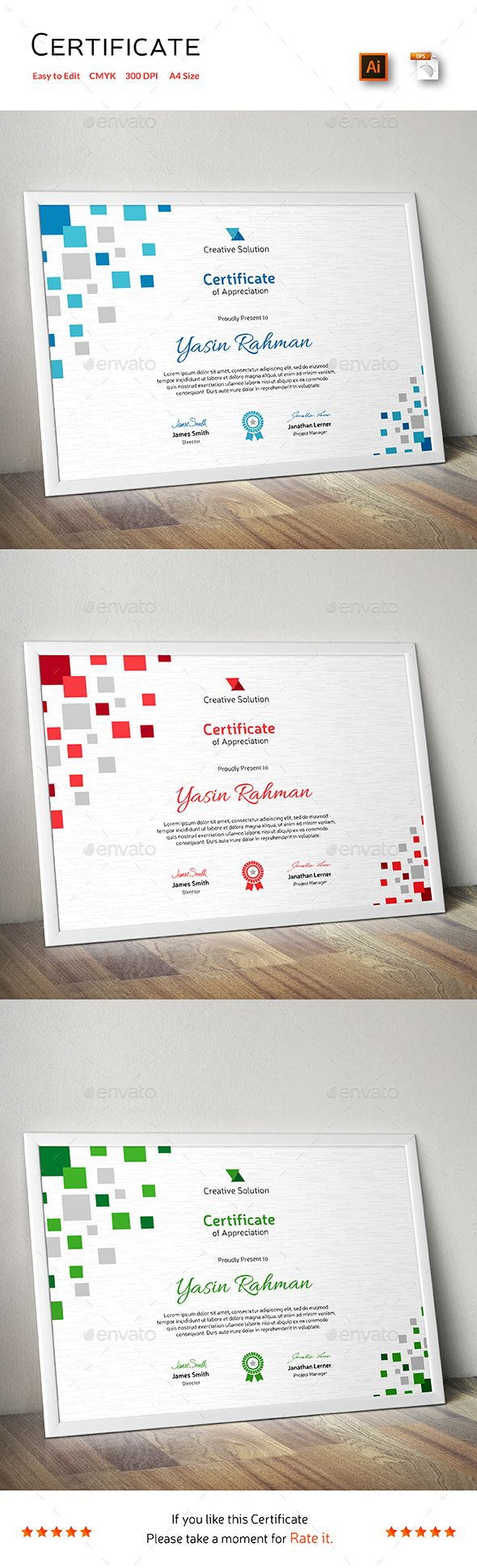 Certificate Template Vector EPS, AI. Download here: http://graphicriver.net/item/certificate/14200232?ref=ksioks