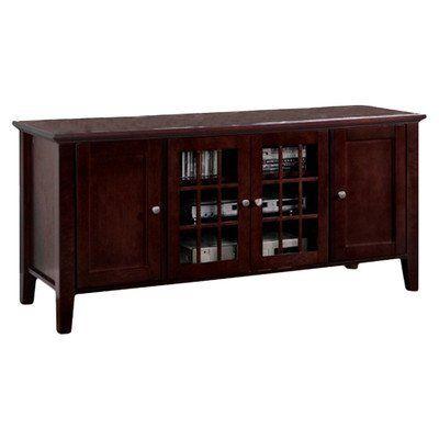 "Kings Brand 54"" Dark Cherry Wood Plasma TV Console Stand Entertainment Center Kings Brand Furniture http://www.amazon.com/dp/B00GPYI5ZC/ref=cm_sw_r_pi_dp_gVfYvb0G30GJ4"