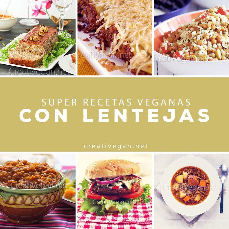 Recetas 100% vegetales con lentejas: hamburguesas, guisos, ensaladas, canelones, etc. - CreatiVegan.net