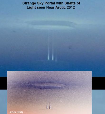 Published on Sep 6, 2012   Strange event reported about a possible portal or wormhole, appearing over an Arctic Facility.     Phenomena was witnessed by multiple people, who seem unshaken by the event, as they claim this kind of thing happens all the time in that region.