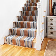 how to Install a Flat-Weave Cotton Stair Runner