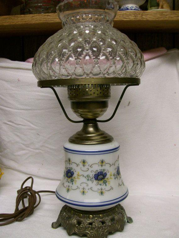 1973 Quoizel Hurricane Lamp Vintage Abigail Adams Inspired