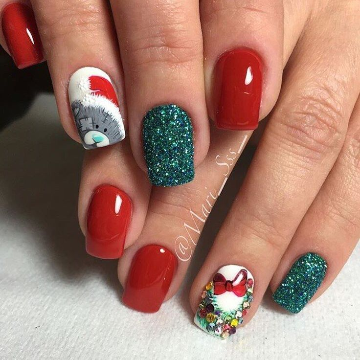 Best Christmas Gel Nails: 66 Best Christmas Nails 2018 Images On Pinterest
