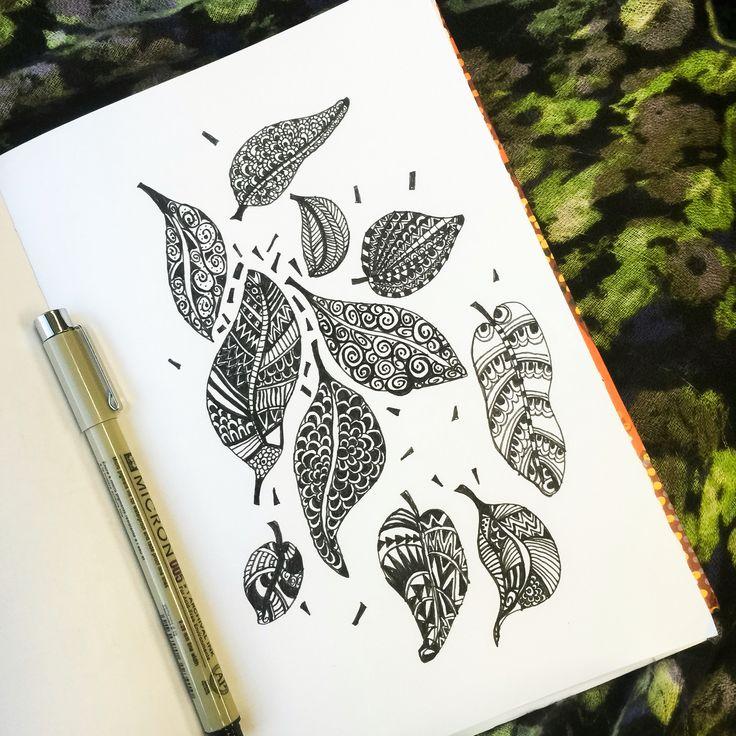 Autumn leaves illustration by Glamjamstudios