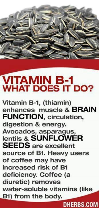 Vitamin B-1 What Does it Do. Also alcohol decreases vitamin B1 and the pill does too. All the more reason to eat more. #FF #tagforlikes #vitamins