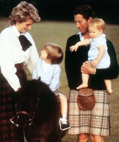 About The British Royals: The Wales Family Mid-80s: Diana