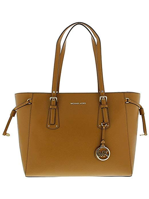 5182052cfc4a1 MICHAEL Michael Kors Voyager Medium Leather Tote  (Acorn) beautifulhandbagforher christmas