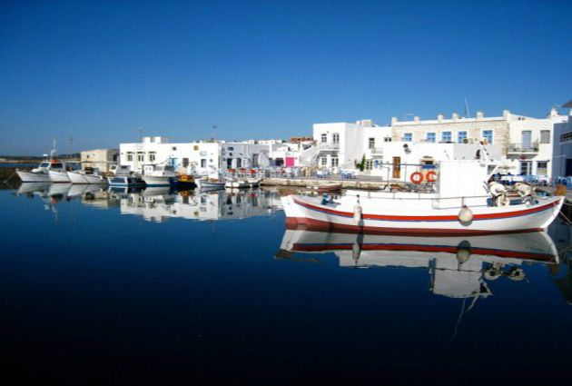 Day 6: IOS – PAROS - NAXOS We depart Ios to go to Naxos. On the way we stop for a swimming break in Paros. Then we sail to Naxos. After the orientation walk in this impressive island you will have more free time to explore the town and to swim. Overnight will be at Naxos Harbour.
