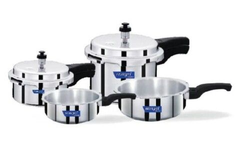 Surya Accent ISI mark Pressure Cooker ( 2 litre  4 Litre) and Pressure Pan Set ( 1 litre 3 Litre ) @ Rs.1399  Snapdeal