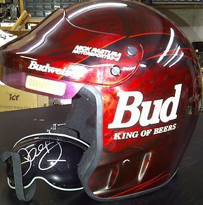 Earnhardt Jr. old school helmet. #nascaroutfit
