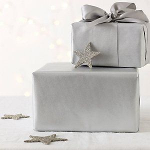 Kraft Wrapping Paper - Silver | The White Company #whitechristmaswishlist
