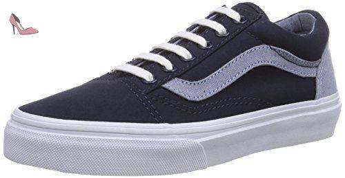 Vans  OLD SKOOL, Sneakers basses mixte enfant - Bleu - Blau ((T C)DrssBlus/C FN6), 30 EU - Chaussures vans (*Partner-Link)