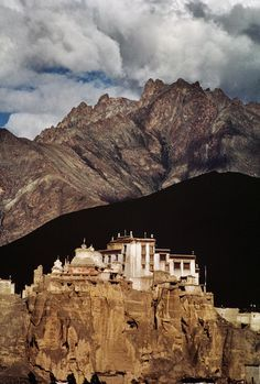 Lamayuru, India. Its one of the oldest monasteries in Ladakh. Houses the original scriptures they use for teaching. Surrounding area is called moonland which glows under moon light. Lamyeru falls on trekking trails also.