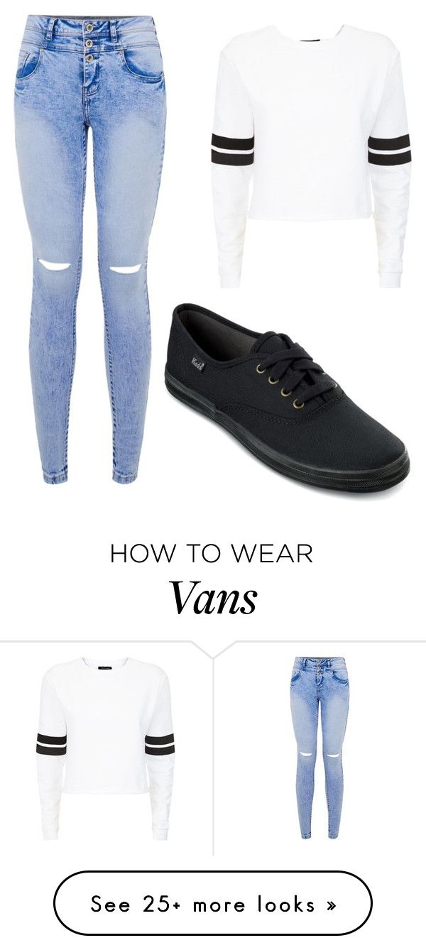"""""""Black Vans"""" by aowens99 on Polyvore featuring Keds"""