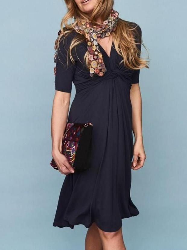 cd919916 DEA Dress w knot, Dark Blue #fashion #design #fashiondesign #önling ...