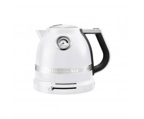 The KitchenAid Pro Line Series 1.5L Electric Kettle in Frosted Pearl.   It's fast, powerful and quietly boils water in minutes. Easily adjust the temperature for your perfect cup.