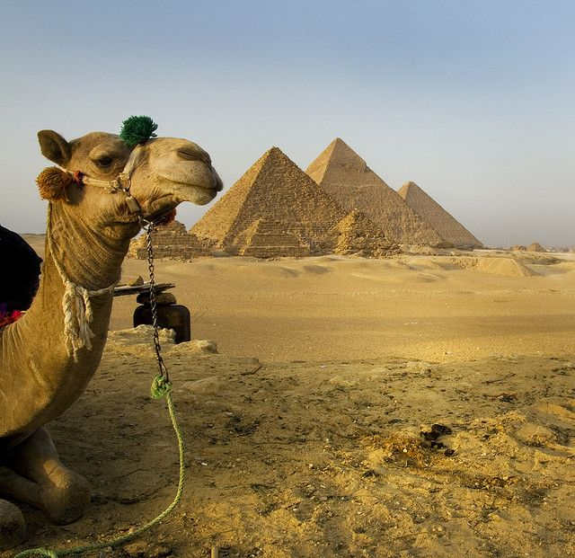 Giza, Egypt.  The smaller pyramids are for the wives and children.