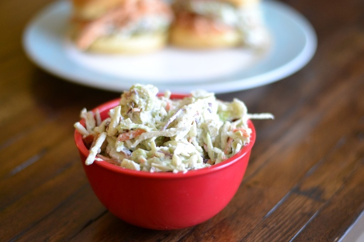 Creamy Coleslaw With Bacon And Blue Cheese Recipe — Dishmaps