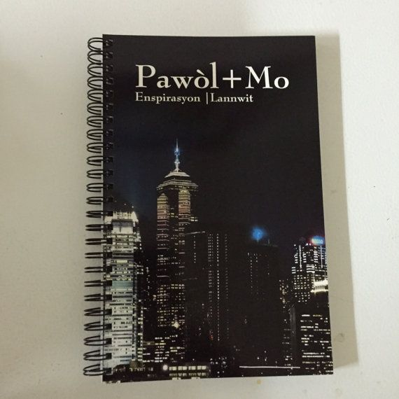 Carnet Notebook -Pawol + Mo 20$ Available on Etsy: https://www.etsy.com/ca-fr/listing/463209147/carnet-de-note-pawol-mo?ref=shop_home_active_1