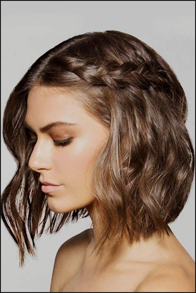 Wunderbar Schoene Brautfrisuren Kurze Lockige Haare Schone Einfache Frisuren Short Hair Styles Braids For Short Hair Hair Lengths