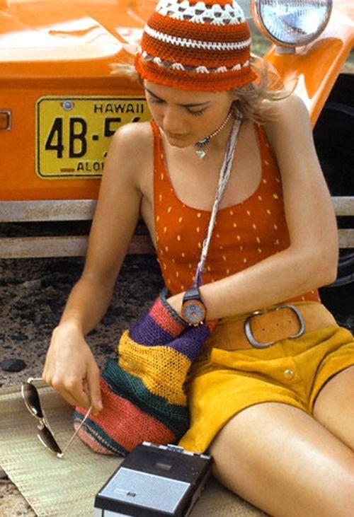 Fashion by Giorgio Di Sant'Angelo, Hawaii, 1971.