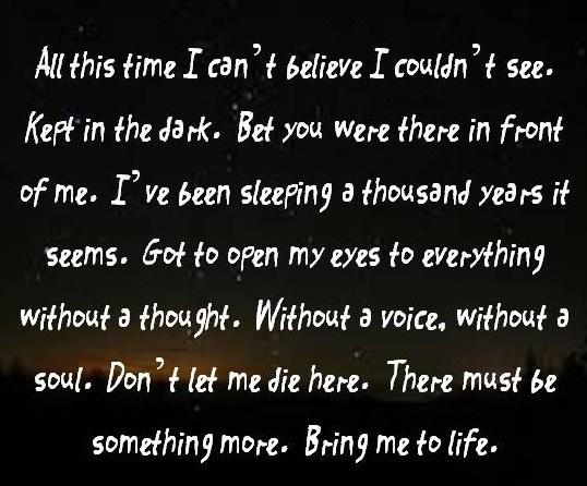 Evenescence lyrics