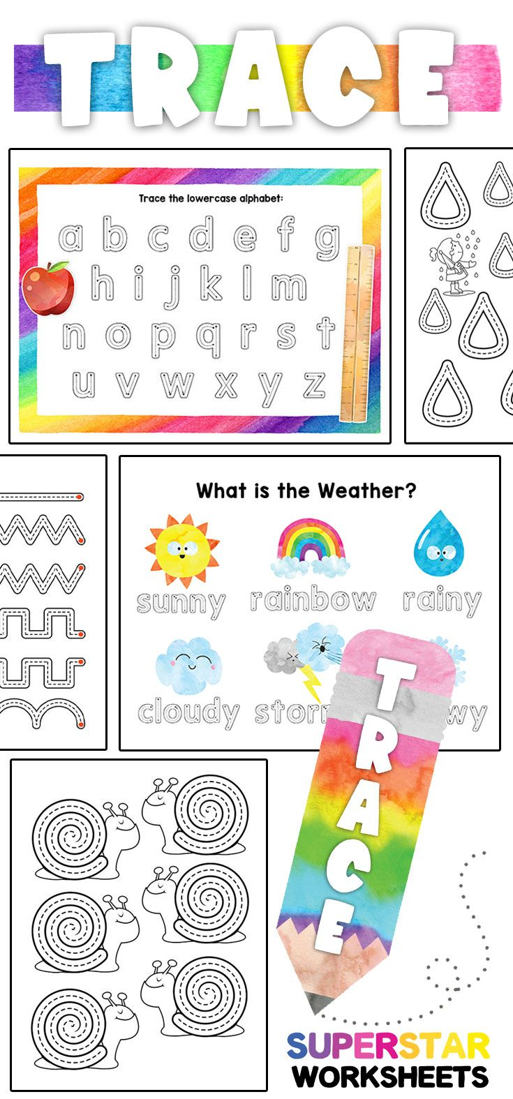 Huge Tracing Activity Bundle For Preschool Shape Tracing Worksheets Tracing Worksheets Preschool Unique Teaching Resources [ 1575 x 735 Pixel ]