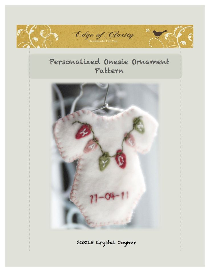 Personalized baby Christmas ornament - PATTERN ONLY - PDF Instant Download by EdgeOfClarity on Etsy https://www.etsy.com/listing/159293438/personalized-baby-christmas-ornament