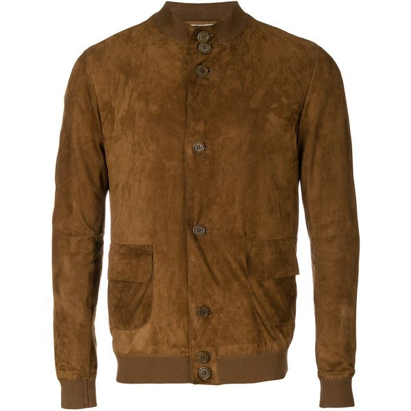 Salvatore Santoro buttoned jacket (3.155 BRL) ❤ liked on Polyvore featuring men's fashion, men's clothing, men's outerwear, men's jackets, brown, mens brown leather jacket, mens brown jacket, mens button up leather jacket, mens button up jacket and mens real leather jackets