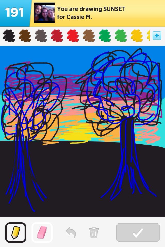 Sunset, draw something game