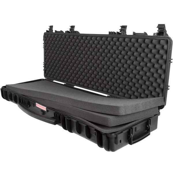 Designed to withstand the elements, this tactical rifle case from DiscountRamps.com is waterproof, UV resistant, and shock resistant. Three layers of padding protect rifles and equipment from shock.