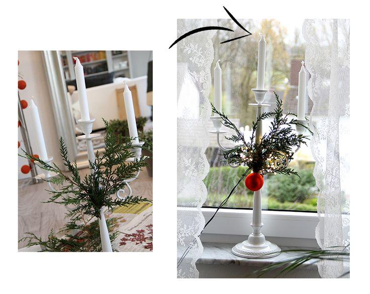 In dem DIY Weihnachtsdekorations post zeigt Bloggerin Célina wie man normale Dekoration weihnachtstauglich macht.