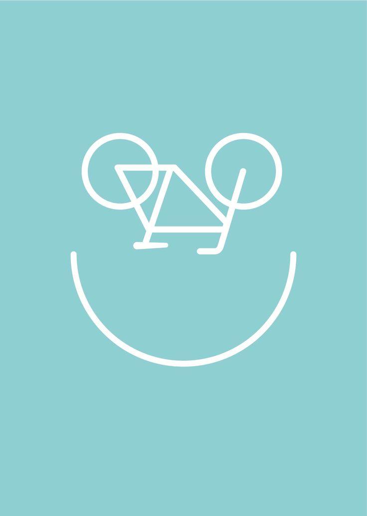 Happy bike Print - | Made By whythankyouplease | | Bouf