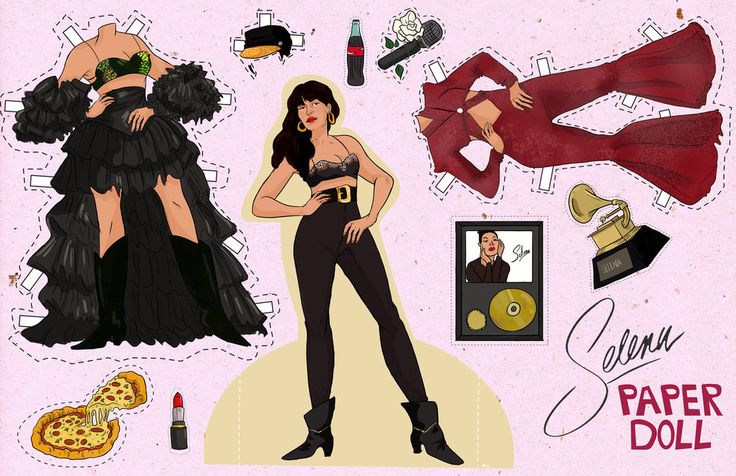 BEHOLD! The Selena paper doll you been waiting for your whole life: | Here's The Selena Quintanilla Paper Doll Of Your Dreams