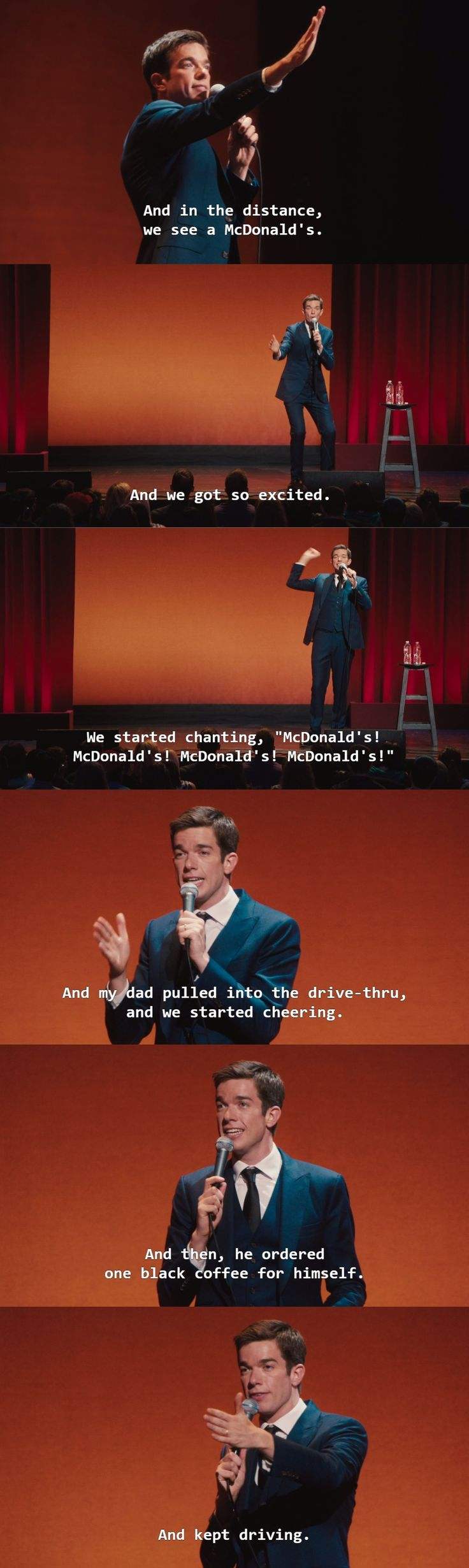 John Mulaney - I think he's talking about my dad!!